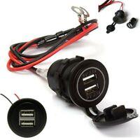 Auto Einbau Steckdose 12V 2 USB LKW Zigarettenanzünder Bord Buchse Inkl. Kabel ❤