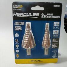 Starter Point Big Hercules 2pc 4 5 Cobalt Steel Step Drill Bits Ha22 61 Sealed
