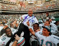 DON SHULA SIGNED 11x14 PHOTO + HOF 97 LEGENDARY COACH OF MIAMI DOLPHINS PSA/DNA
