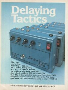 1980 DOD 680 Analog Delay - Vintage Advertisement