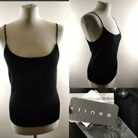 New linea House of Fraser Women Tank Top Black Spaghetti Strap Beaded Party M 12