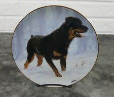 Danbury Mint Rottweiler Collector Plate Winter Walk By John Silver