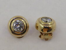 9ct Solid Yellow Gold & CZ Small Round Clip-on Earrings