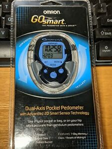 NEW SEALED Omron Go Smart Dual Axis Pocket Pedometer