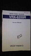 Vector research vrx-6200r service manual original repair book stereo radio tuner