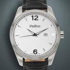 Gift for Him NEW Omikron 1258M Mens Paladin Series in Silver/ Black  MSRP $1365