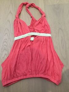SUMAKHI PEACH BEACH/CLUB TOP SIZE 8