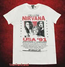 ee714d9f New Nirvana Poster Tour Photo 1991 Mens Vintage T-Shirt