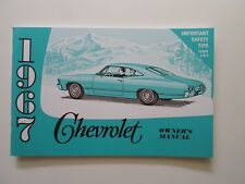 1967 CHEVROLET IMPALA OWNERS MANUAL FOR YOUR GLOVEBOX