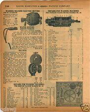 1920 PAPER AD Peerless Water Motor Parts Repair Red Devil Washing Machine Horton