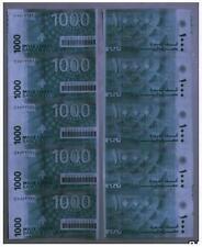 Liban Lebanon 1000 Livres 5in1 Uncut  黎巴嫩 1000镑 5连体钞