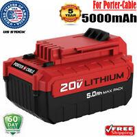 5.0AH FOR PORTER-CABLE PCC685L 20V MAX PCC682L PCC681L Lithium Cordless Battery