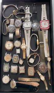Large Lot of Men's & Women's Watches Parts/Repair Mechanical Deco Seiko Waltham