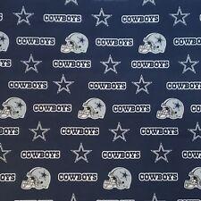NFL DALLAS COWBOYS BLUE Cotton Fabric Piece by the 1/4,1/2,Yard, 58
