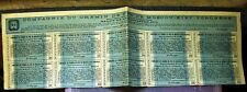 Russian Sheet of Coupons + Talon for Moscow-Kiev-Voronezh Railroad bond 1913