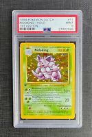 Pokemon Card PSA 9 Dutch Nidokin Holo 1st Edition Base Set #11/102 Mint