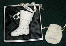 Pandora Stocking Ornament With Pouch And Box Excellent Pre-Owned