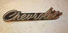 Chevrolet grille fender side emblem Chrome on Black Rare Auto Mopar.