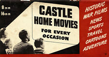 CASTLE FILMS 8MM 16MM HOME MOVIES SMALL CATALOG 1944 - COMPLETE - 32 pages