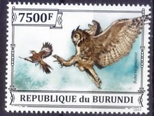Great Horned Owl, Bubo virginianus, Birds of Prey, Burundi 2013 MNH