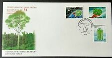 1993 Malaysia 14th Commonwealth Forestry Conference 3v Stamps FDC (Melaka)