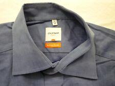 E7911 Olymp Luxor slim line Businesshemd Kombimanschette 41 dunkelblau meliert