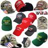 Donald Trump 2020 MAGA Camo Embroidered Hat Keep Make America Great Again Cap s5