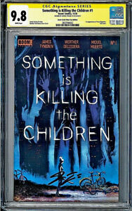 CGC SS 9.8 Something Is Killing The Children #1 Foil LCSD Signed JAMES TYNION IV