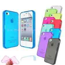 CUSTODIA Cover Bumper MORBIDA TPU Silicone TRASPARENTE per iPHONE 4  & 4S Colori