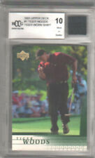 🔥 2001 Upper Deck TIGER WOODS #1 Rookie RC BCCG Graded 10 MINT Worn Shirt Relic