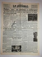 N1151 La Une Du Journal Le journal 2 juin 1940 nos troupes résistent l'ennemi