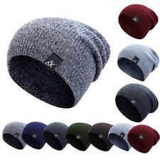 Unisex Beanie Wintermütze Strickmütze Wollmütze Ski Baggy Hat Cap Damen Herren