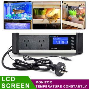 AU PLUG 240V Digital Thermostat Temperature Controller Temp Heater Relay Sensor