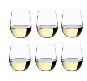 """6 RIEDEL """"O""""  Viognier / Chardonnay  0414/05 , Weißweingläser Valuepack"""