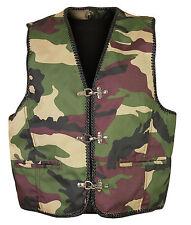 Bikerweste Camouflage Weste Kutte chopper gilet en cuir Vest wie lederweste