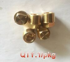 "1/2"" BSP BSPP Pipe Thread Square Head Plug Brass  P-#47"