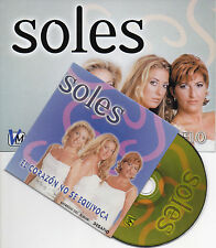 "SOLES ""EL CORAZON NO SE EQUIVOCA"" SPANISH PROMO CD SINGLE +PRESS DOSSIER +TICKET"