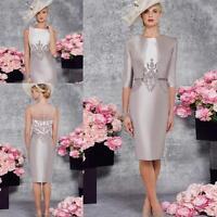 Mode Mutter der Braut Kleider mit 3/4 Arm Jacke Ballkleid Abendkleid Partykleid