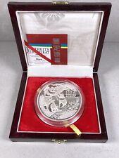Silbermünze China 100 Yuan PP 12oz. Unzen 999 Silber Panda  1990 Box/Zertifikat