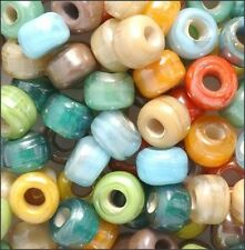 Southwest Colors Glass Crow Beads (40)