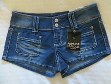 Women's Almost Famous Dark Blast Shorts Size 9 NEW w/tags