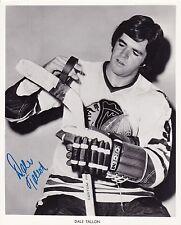 Dale Tallon signed Chicago Blackhawks vintage team issued photo