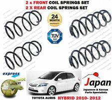 FOR TOYOTA AURIS 1.8 HYBRID 2010-2012 2X FRONT + 2X REAR LEFT RIGHT COIL SPRINGS