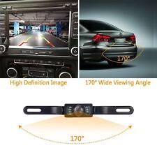 Waterproof Car Rear View Reverse Backup Camera License Plate Night Vision 7X LED