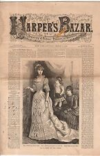 1883 Harpers Bazar March 3 - Ladies House dresses; Girl's dresses;Collars;Basque