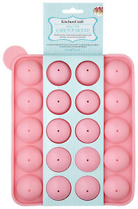 KitchenCraft - 'sweetly does it' 20 HOLE SILICONE CAKE POP MOULD