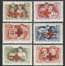Hungary 1957 Red Cross/Workers/Steam Engine/Rail/Radio/Boat/Health 6v set n34742