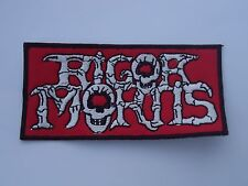 RIGOR MORTIS LOGO EMBROIDERED PATCH