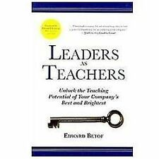 Leaders as Teachers by Edward Betof Hardcover Book (English)