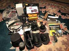 Nikon D7000 16.2MP Digital SLR Camera - 6 Lenses and Speedlight Flash No Reserve